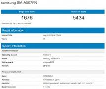 三星Galaxy A50s跑分曝光 将采用