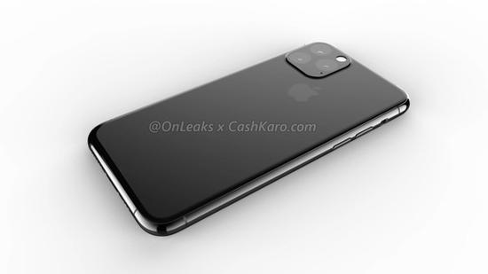 2019款iPhone渲染图(图取自@OnLeaks)