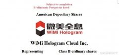 中国最大的全息云两年盈利1.6亿元,Wimi微美云息赴美IPO纳斯达克