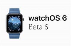 苹果推送watchOS 6开发者预览版B