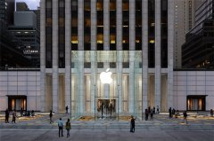 苹果开放纽约第五大道直营店 每天24小时开放