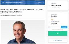苹果CFO卢卡・马埃斯特里拍卖慈