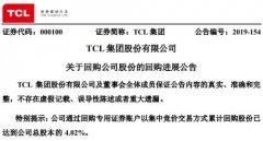 TCL集团累计回购4.02%公司股份