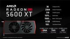 AMD推送新BIOS大幅提升RX 5600 XT显卡性能 拥有2304个流处理器