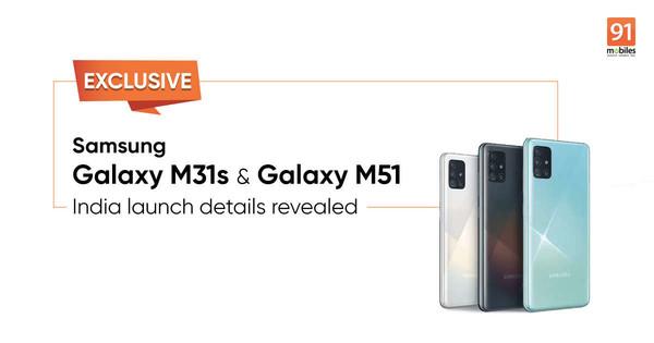 三星Galsxy M31s和M51(图源91mobiles)
