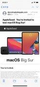 苹果邀请邮件标题出现差错 macOS  Big Sur变
