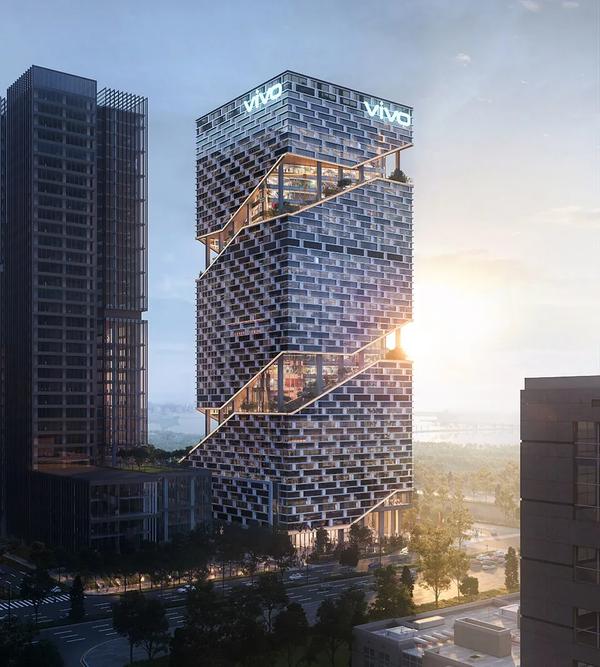 vivo深圳新总部工程对公众亮相:自然与科技完美融合