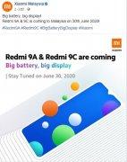 小米官宣:Redmi 9C 与 Redmi 9A 将于明日在