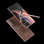 三星Galaxy Note20 Ultra古铜色正面渲染图曝