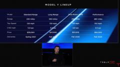 特斯拉Model Y后轮驱动长续航版价格为48000美