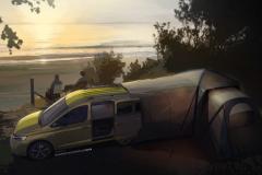 大众发布全新露营车Caddy Mini-Camper 具备可