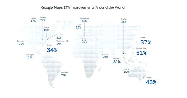 谷歌地图ETA