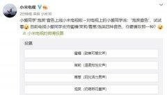 """小米电视上线小爱同学""""泡芙""""音色 目前支持4种音色可选择"""