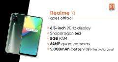 realme 7/7i在印尼发布:均采用挖孔屏设计 配