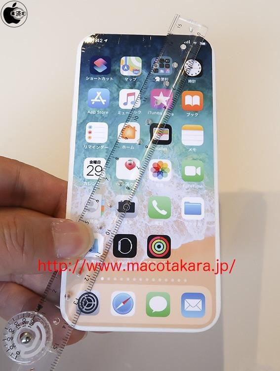 无刘海iPhone机模(图源网)
